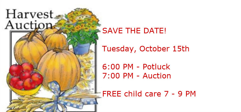 Harvest Auction – October 15th