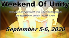 "Labor Day ""Weekend of Unity"""